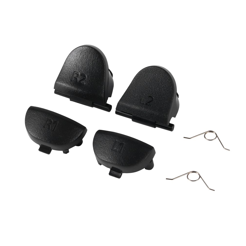 Black Replace Buttons R1 L1 R2 L2 Triggers For Dualshock 4 For PS4 Controller