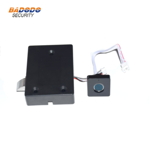 Image 2 - Plastic Fingerprint cabinet door lock biometric electric lock with chargeable battery  for drawer locker cupboards