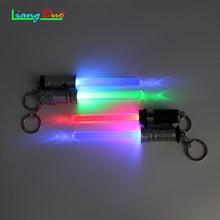 1Pcs Lighting Star Wars Laser Sword Light Key Button Black Knight Laser  Button Charm Luminescent Toy Lightsaber Key Buckle