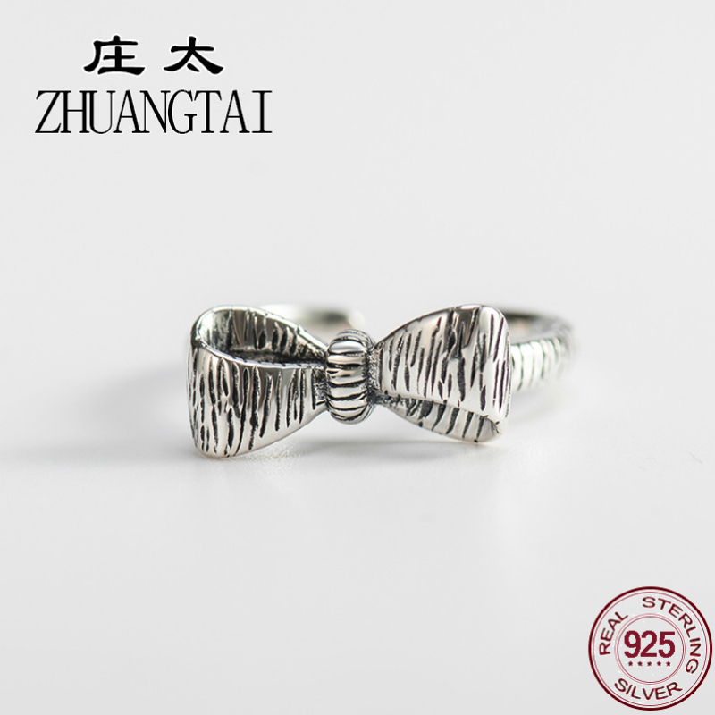 ZHUANGTAI Jewelry Real 925 Sterling Silver Butterfly Ring Personalized For Women Finger Rings Hand Favourite Anillo Plata Mujer