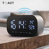 Electronic Alarm Clocks FM Radio Clock Support Temperature LCD Display Wireless Stereo Subwoofer Music Player Bluetooth Speaker