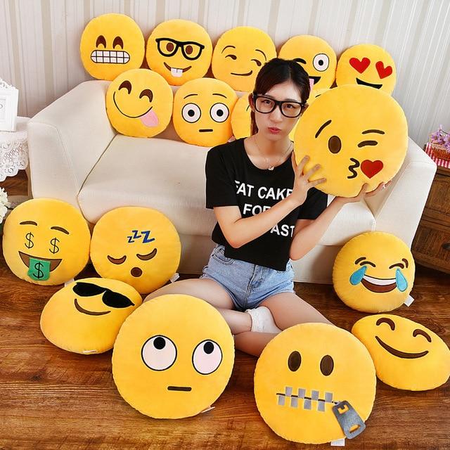 emoji párna párna dekoráció dekoratív párnák Smiley Face - Lakástextil