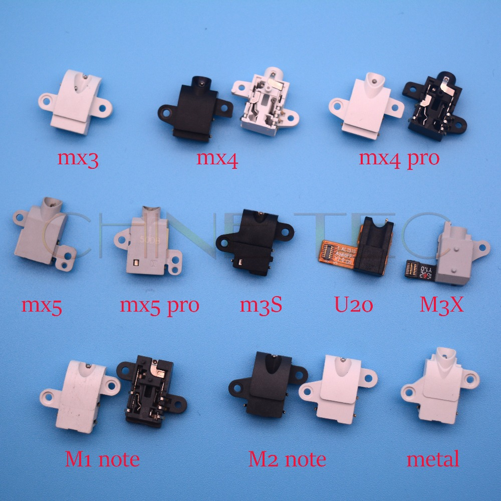 1pcs Earphone Earpiece Hole Jack for Meizu MX3 MX4 pro Mx5 pro5 M1 M2 note M2 M3S mini M1 metal M3X U20