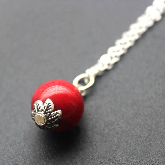 Online shop red coral pendant necklaces quartz natural stone charm red coral pendant necklaces quartz natural stone charm necklaces fashion collar women jewelry wholesale aloadofball Images