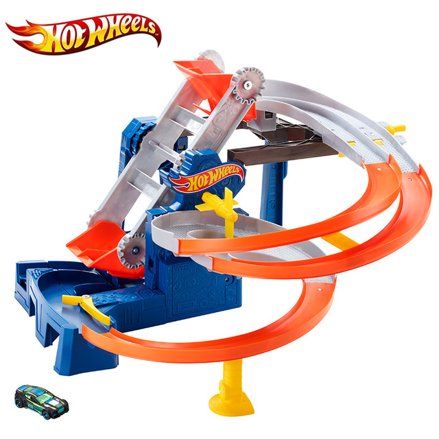 hot wheels 2017 Speed cyclotron orbit toys electric dual-track transmitter kids toy toys for children Juguetes Gift For Kids electric track racing car 1 43 620cm rail road roller double rc toy for boys gift kids toy cars educational toys for children