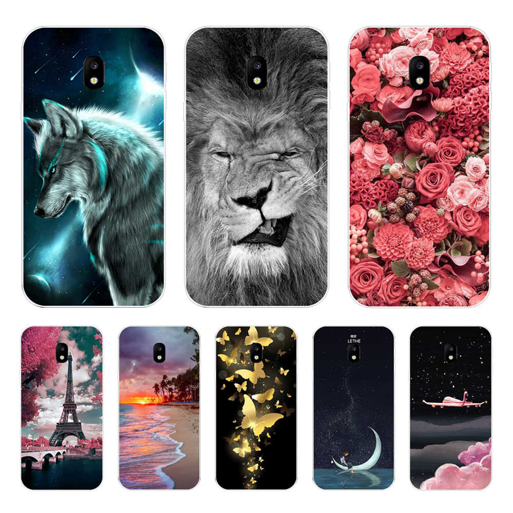 Silicone Cover For Samsung Galaxy J3 2017 J330 F Case 5.0' Luxury Soft TPU Print Case for sm Samsung J 3 2017 330 F Fundas Coque