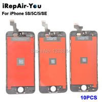 10PCS Lot AAA Quality Screen Display Assembly For IPhone 5 5S 5C LCD With Digitizer And