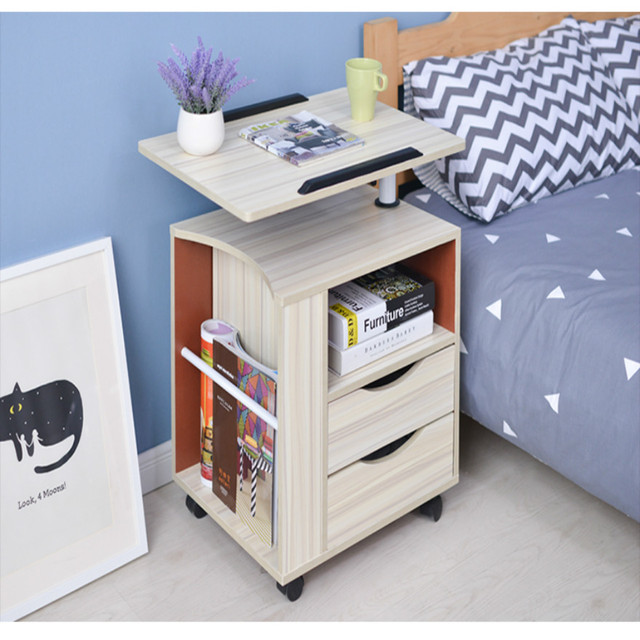 amovible ordinateur portable bureau de chevet casiers. Black Bedroom Furniture Sets. Home Design Ideas