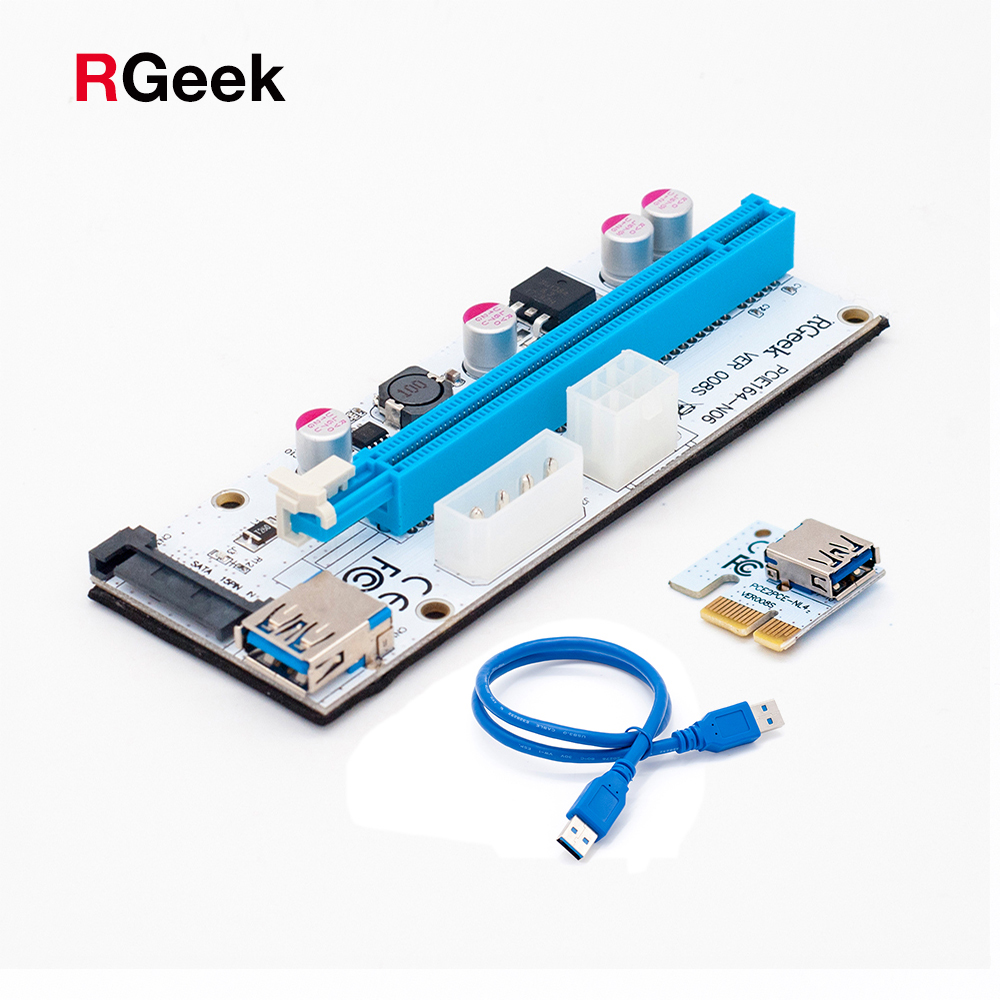 30 pack White 3 in 1 4pin 6pin sata PCI-E Express 1X 4x 8x 16x Extender PCI E USB Riser 008S Adapter Card For BTC Mining e cap aluminum 16v 22 2200uf electrolytic capacitors pack for diy project white 9 x 10 pcs