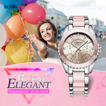 2017 LONGBO Brand Fashion Watch Women Luxury Ceramic And Alloy Bracelet Analog Wristwatch Relogio Feminino Montre Relogio Clock