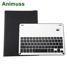 Animuss Aluminum Keyboard Case Cover 7 Colors Backlit Light Flip For iPad Air /Air 2/Pro 9.7/new 9.7 Smart