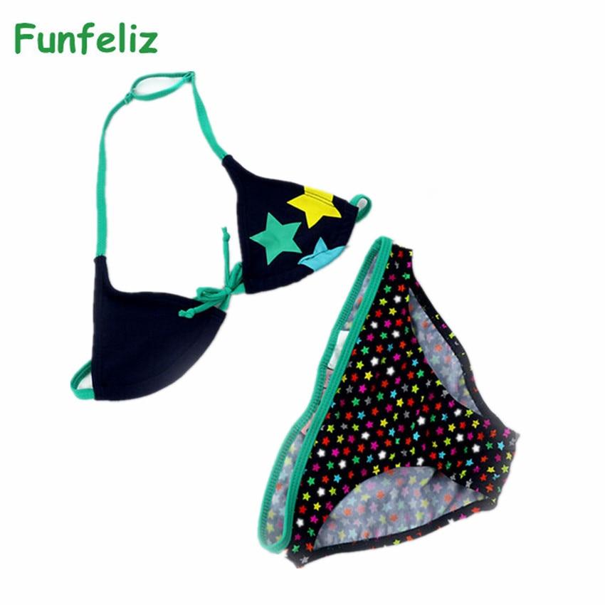 Funfeliz Girls bikini set 6-16 años traje de baño para niños punto - Ropa deportiva y accesorios