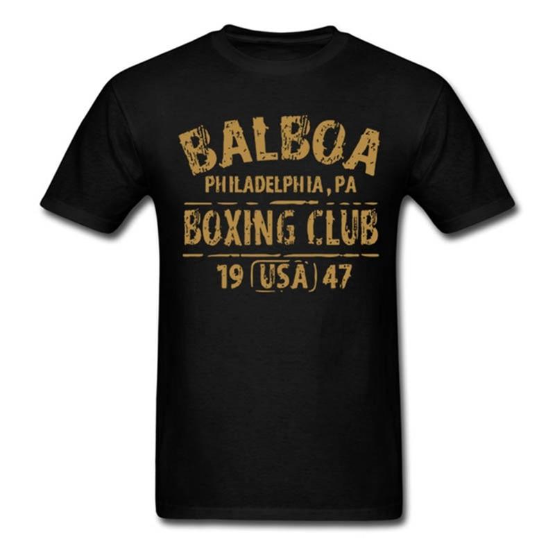 Rocky Balboa Boxing Club Philadelphia PA   T  -  shirt   Men Summer Cotton Short Sleeve Hipster Tops Tee   Shirt   Casual O-neck   T     shirts