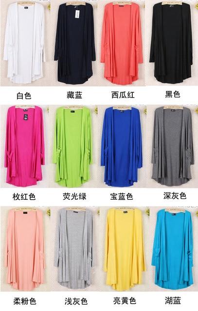 New Fashion Women brand Cardigan Sweater Poncho Lady Long sleeve Casual Slim 100% Cotton Solid female Knitwear Coat Kimono D150 2