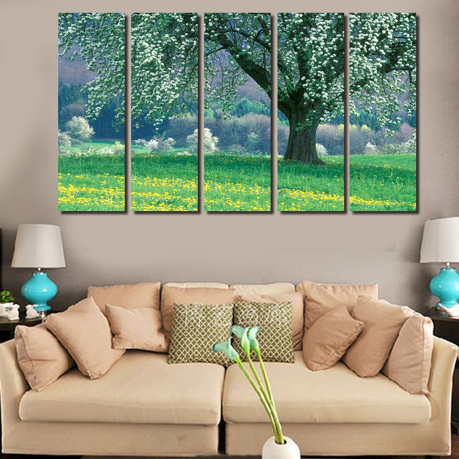 Texture Paint Designs For Living Room Online Buy Wholesale Canvas Texture Trees Painting From China