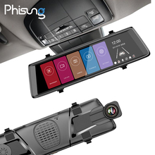 """Phisung F900 10 """"Toque Espejo Lente Dual FHD 1080 P Coche DVR completo 1:1 vista dividida unidad grabadora de espejo retrovisor con cámara de automóviles"""