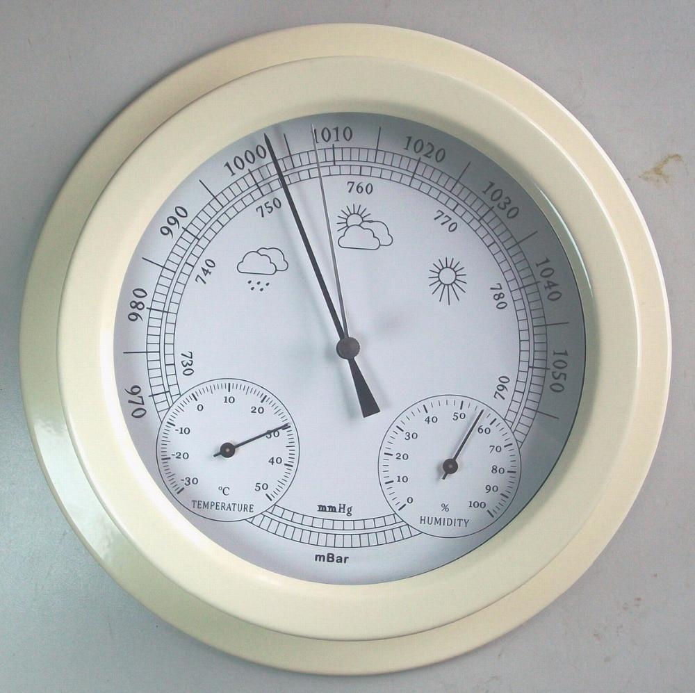 European style 22.5CM 3 in 1 Thermometer Hygrometer Barometer Weather Station european style dark gray 22 5cm 3 in 1 thermometer hygrometer barometer weather station