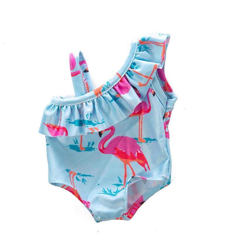 43 سنتيمتر عروسة كارتون الملابس مثير المطبوعة ملابس السباحة بيكيني للطفل ملابس دمى الاكسسوارات ارتداء الأطفال عيد الميلاد أفضل هدية
