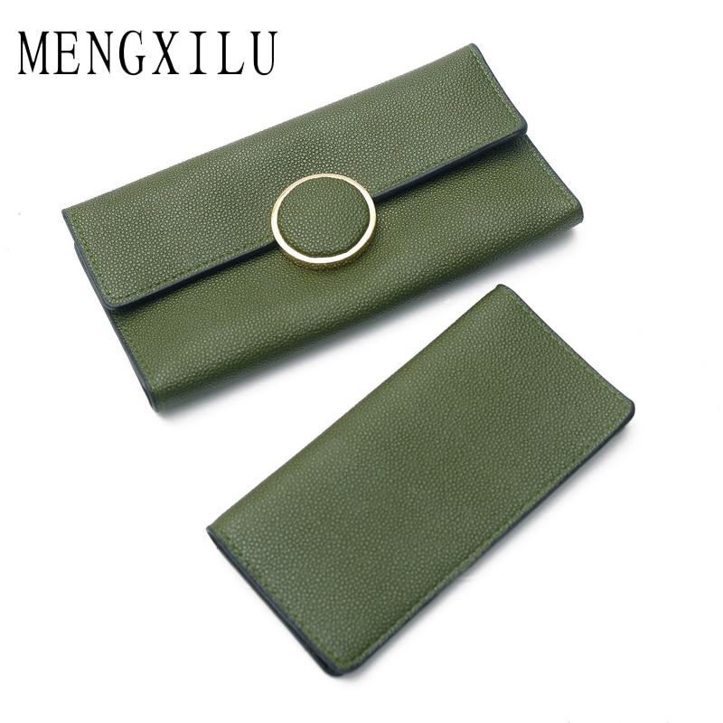 MENGXILU Brand High Quality Fashion Women Wallets 2018 Long Retro PU Leather Wallet Female Clutch Coin Purse Ladies Zipper 2018
