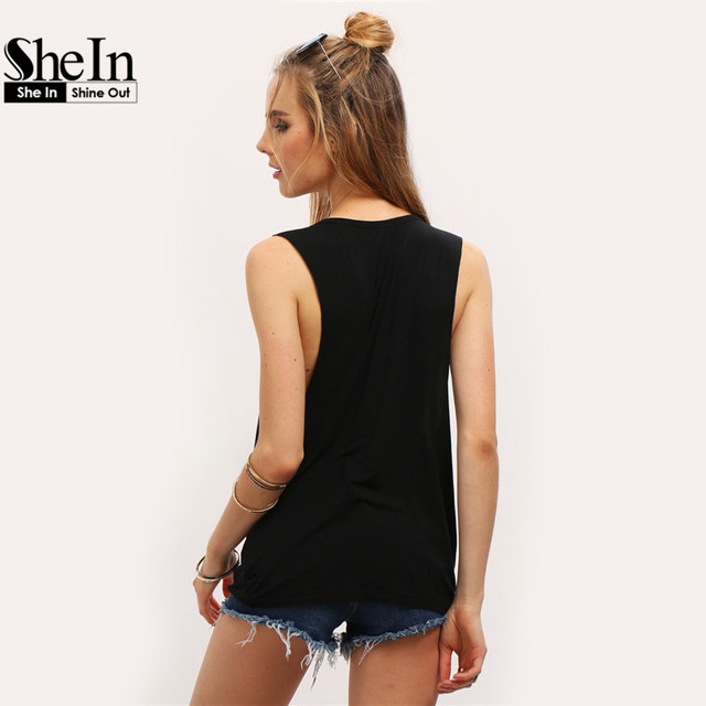 Summer Style Women Sexy Tops Black Round Neck Sleeveless Vintage Tribal Print Fitness Casual Tank Tops