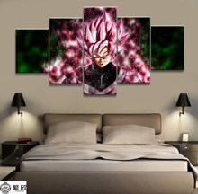 Hot Sales Without Frame 5 Panels Picture Dragon Ball Animation Canvas Print Painting Artwork Wall Art Canvas Painting Wholesale(China)