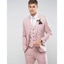 بدلة رجالي مكونة من 3 قطع (جاكيت + بنطلون + صدرية) 2020 بدلة ضيقة للرجال ماركة Ternos Masculino بدلة رسمية للرجال للحفلات الراقصة
