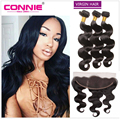 Ear To Ear Lace Frontal Closure With Bundles Malaysian Body Wave Virgin Hair Full Frontal Lace Closure 13x4 Malaysian Body Wave
