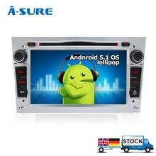 A-sure DAB + GPS Android 5.1 Quad CPU GPS Radio DVD para opel zafira b astra h corsa vivaro meriva omega Tigra