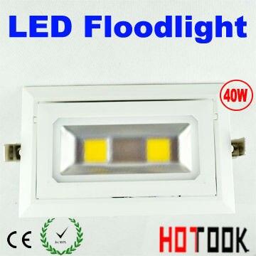 LED Corner Light 40W Flood Light FloodLight Indoor Ceiling Rectangular  Corner Lighting 85~265V CE
