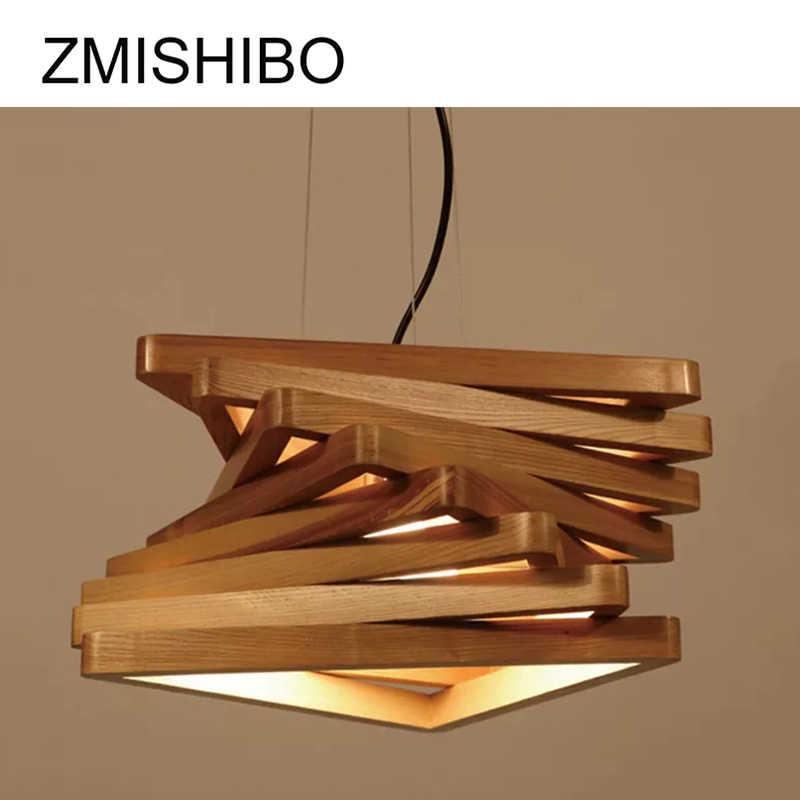ZMISHIBO Magic дизайн подвесной светильник деревянный 43 см для ухода за ребенком для мам E27 110/220 В 1 м шнур на потолке арт Droplights для столовый обеденный зал