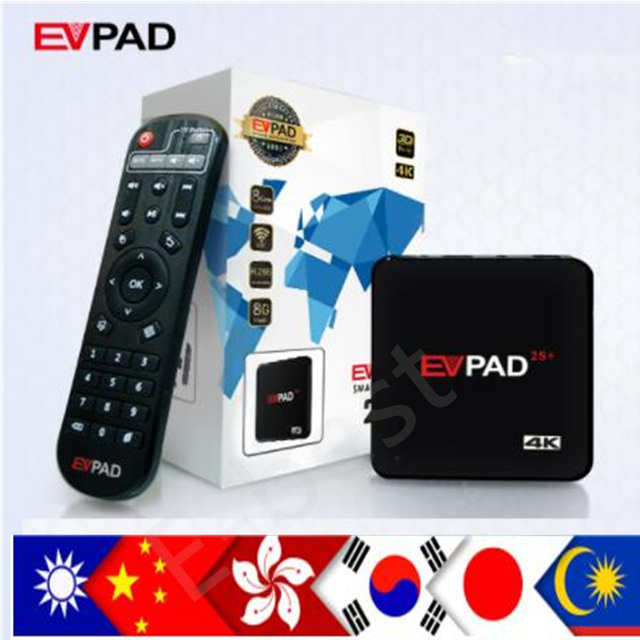 US $129 0 |NEW Evpad 2s+ pro+ Korean Japan EVPAD PRO+ IPTV Chinese HongKong  Malaysia Taiwan US Android TV box streaming box-in Set-top Boxes from
