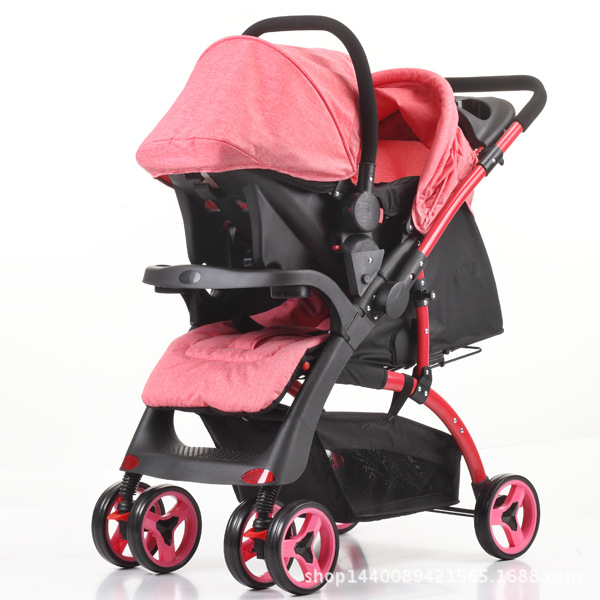 2 In 1 Baby Stroller Mamakids Baby Trolley Can Sit on A Folding Trolley with Four Wheels with A Basket Seat2 In 1 Baby Stroller Mamakids Baby Trolley Can Sit on A Folding Trolley with Four Wheels with A Basket Seat