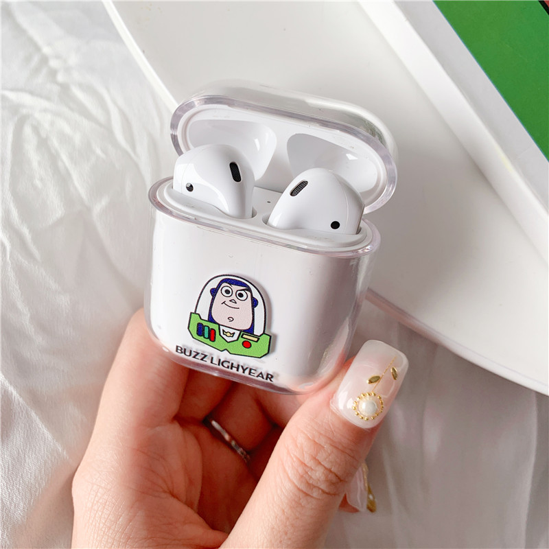 for Airpods case Cartoon Cute for airpods cover hard transparent wireless earphone case For Airpods Headphone protective cases in Earphone Accessories from Consumer Electronics