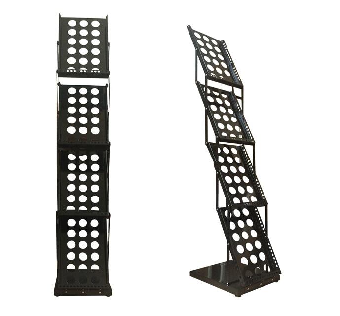 bicarbonato de metal acabamento revista brochura catalogo titular folding suporte na cabine de exposicao exposicao da