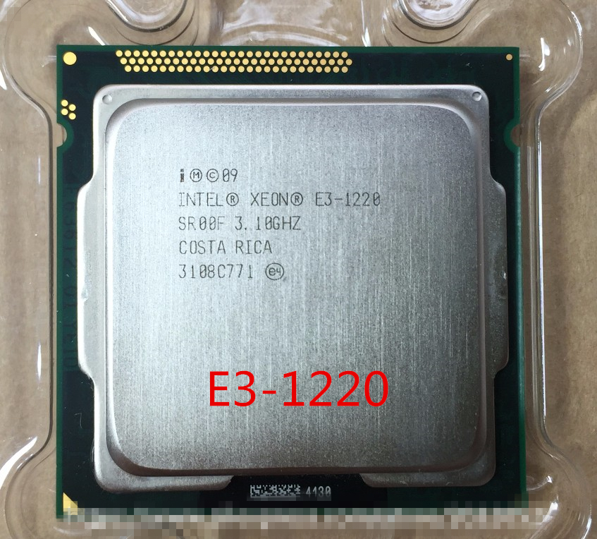 Lntel Xeon E3 1220  3.1GHz 8MB 4 Cores Socket 1155 5 GT SQuad Core Server CPU