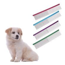 Pet Dog Puppy Cat антистатические расчески и щетки для волос ряд домашнее животное котенок Длинношерстная собака Расческа Щетка Уход Инструмент аксессуары