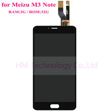 Black  LCD+TP for Meizu M3 Note 3G/32G LCD Display+Touch Screen Digitizer Glass Assembly Smartphone Replace Free Shipping+Tools
