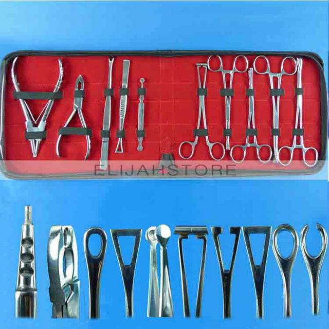 Top 10 unids acero inoxidable herramienta Piercing Body Kits para Ear Nose Navel fuente de alimentación envío gratis