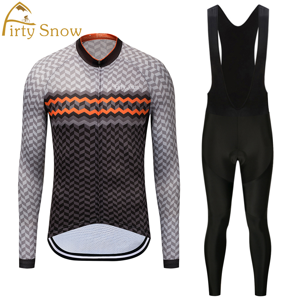 Firty Snow Brand 2018 High Quality Newest Pro Fabric Thin Cycling Set Jersey Wear Long Set Bike Clothing Pants Suit