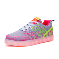 KRIATIV 2017 Autumn New Led Shoes Glowing Sneakers For Girls Children Shoes Kid Footwear Luminous Sneakers