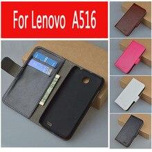 Роскошный Кожаный чехол для Lenovo A516/516 телефон флип обложка чехол для дома для слот для карт LenovoA516 мобильный телефон охватывает случаи