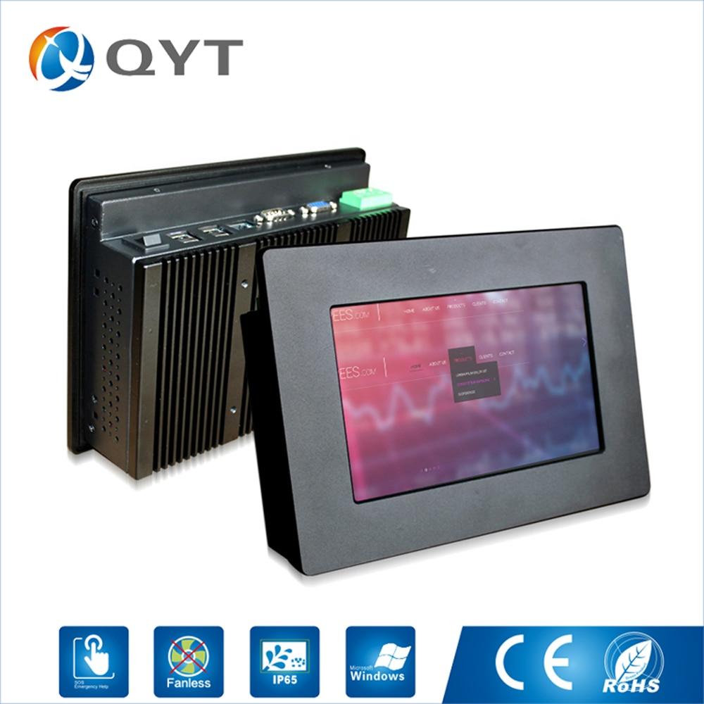High Quality Atom N2807 2GB DDR3 32G SSD Touch Screen Embedded 7 inch Fanless Mini Industrial Pc With VGA/RS232/4*USB/RJ45/WIFI цена