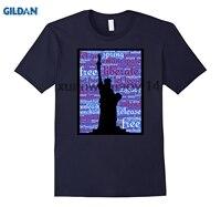 GILDAN 2018 Freiheitsstatue USA Freiheit T-Shirt Grafik T-shirt