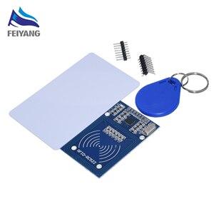 Image 1 - 50PCS SAMIORE 로봇 RFID 모듈 RC522 키트 13.56 Mhz 6cm 태그 SPI 쓰기 및 읽기