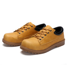 Modyf fall winter males's metal toe cap work security sneakers leather-based informal heat out of doors boots large measurement safety footwear