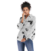 Korean Real New None Hot Sale Women Tops Blouse Cotton Arrival Full Blusas Zanzea Free Shipping 2019 Printing Shirt Joker