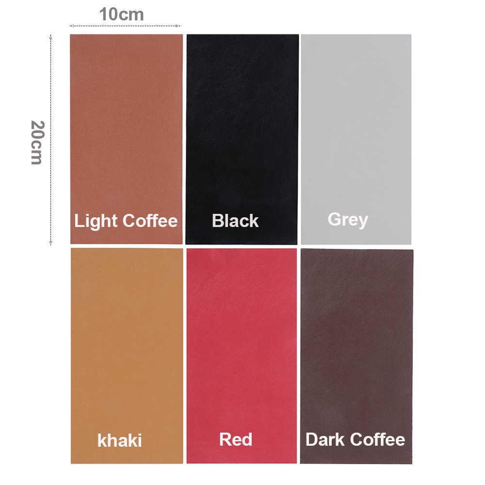 10X20 Cm Sofa Memperbaiki Kulit Diri Perekat Patch Stiker Kain Patch Stick-On Tidak Menyetrika Memperbaiki Fashion patch