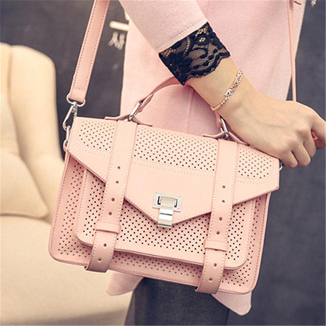 Free New Arrival Real Pocket Two Hasp Satchels Shipping 2016 Spring Winter Bags Retro Shoulder Messenger Hollow Handbags C50-75