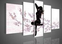 Biały Czarny Nagie Dziewczyny Kobiety Nago Abstrakcjonistycznej Ogromny Mur Decor Obraz Olejny Na Płótnie Obraz Salon Dekoracje Ścienne prezenty