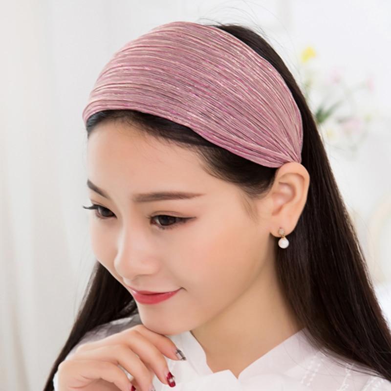 Wholesale 12pcs Mixed Colors 8CM Wide Headbands Mesh Tinsel Fabric Elegant  Ladies Hairbands Womens  Hair Accessories 896e8a0fa0f